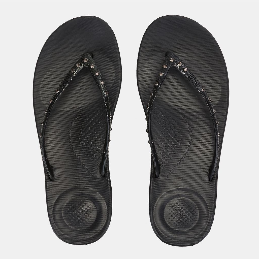 FitFlop iQushion™ Ergonomic Crystal Flip Flops