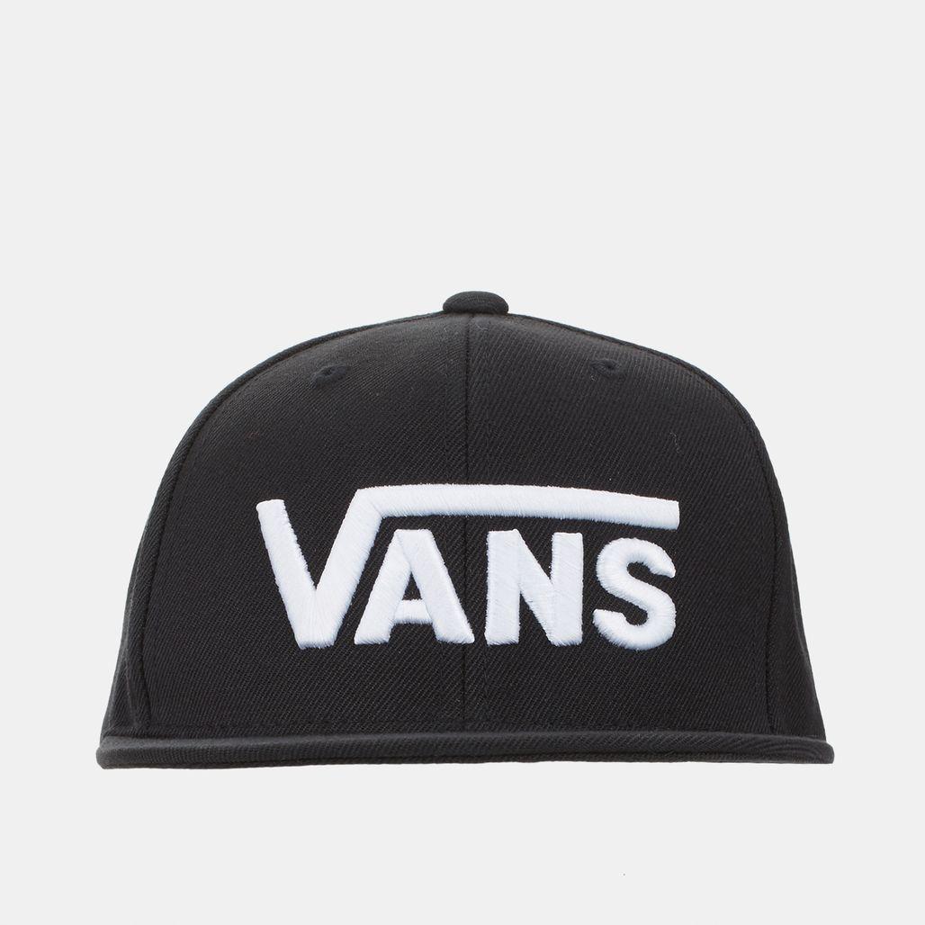 2da45229656 Shop Black Vans Kids  Drop V Snapback Cap for Kids by Vans
