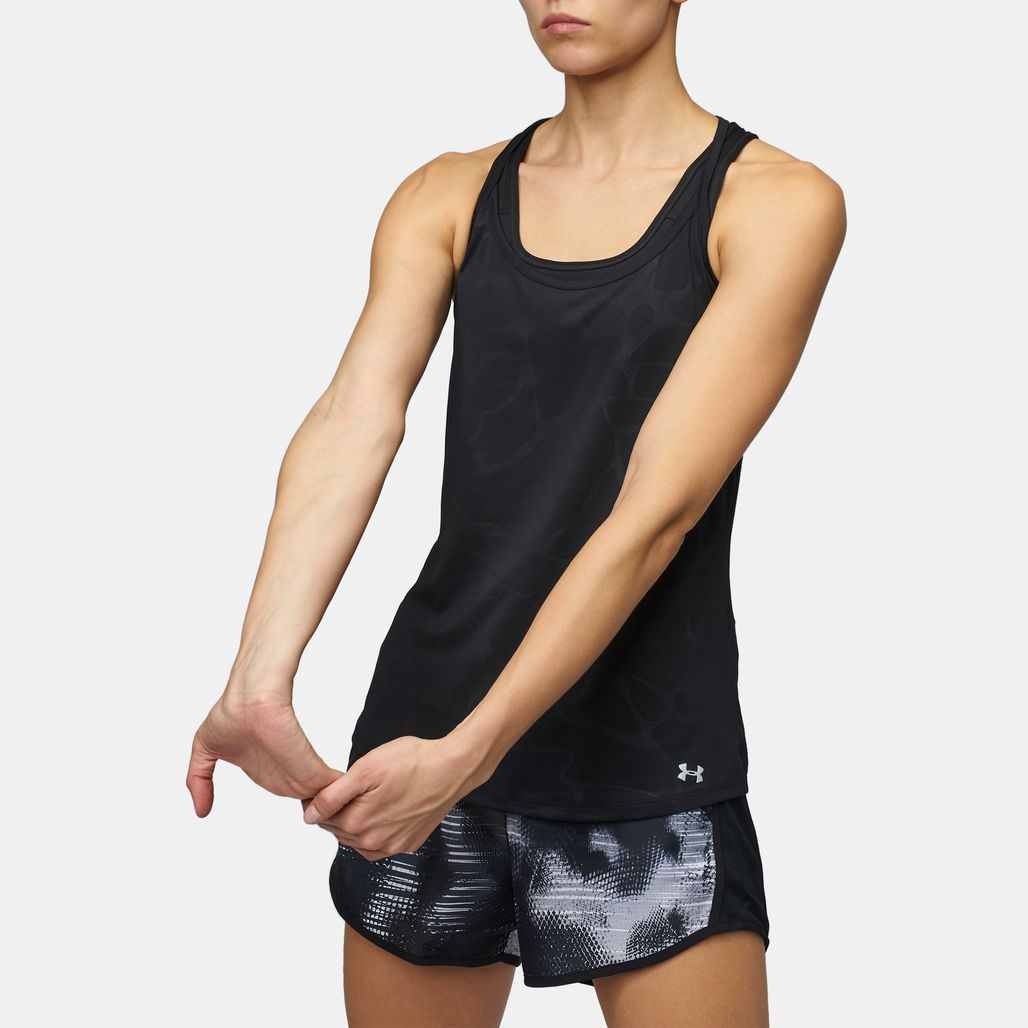 Under Armour Fly By Embossed Racer Tank Top