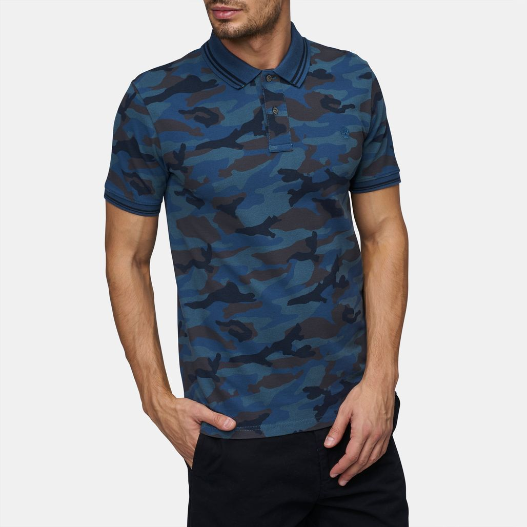 Timberland Millers River Pique Camo Polo T-Shirt