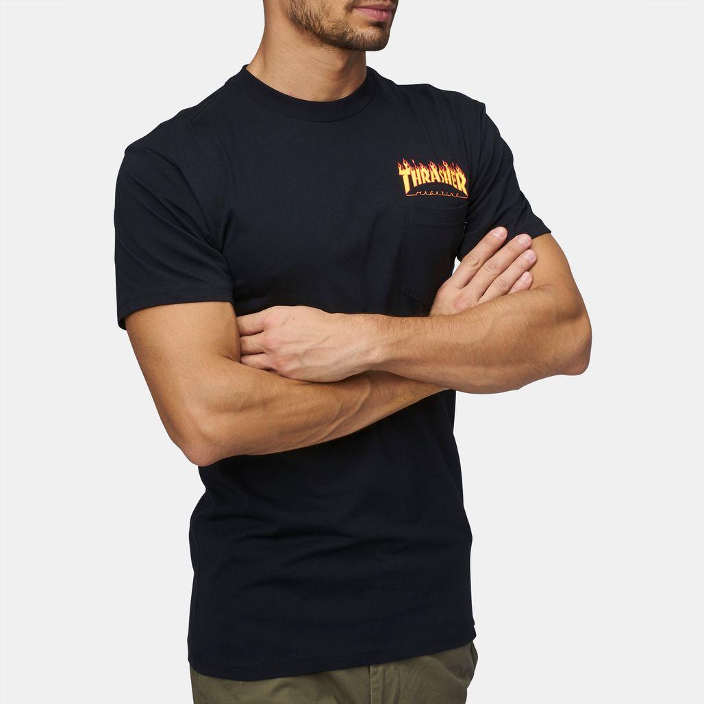 4c180eb49432 Shop Vans X Thrasher Pocket T Shirt Vaap 6M3Blk