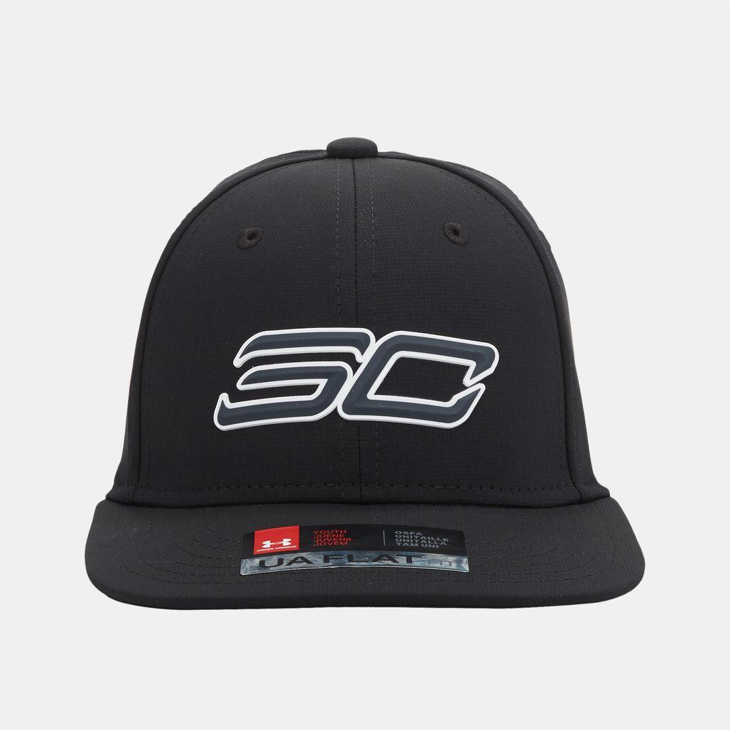 قبعة (كاب) إس سي 30 كور 2.0 من اندر ارمر للاطفال - أسود