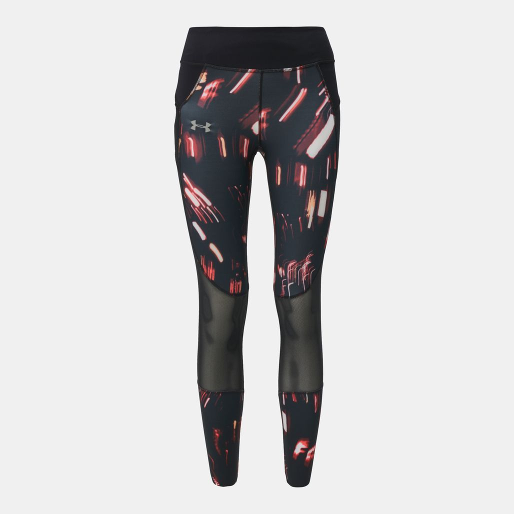 Under Armour Speedpocket Run Printed Crop Running Capri Leggings