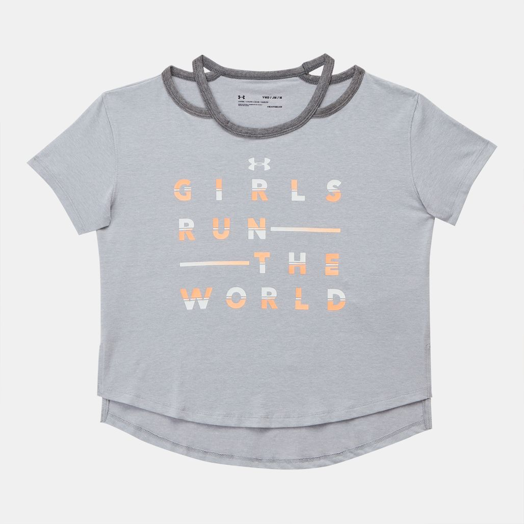 Under Armour Kids' Finale Girls Run The World T-Shirt