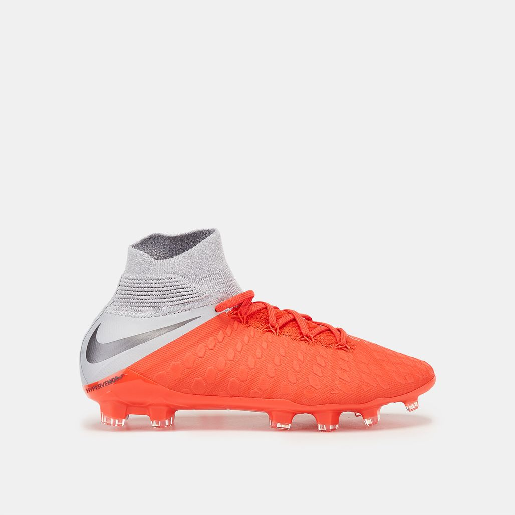 Nike Kids' Hypervenom III Elite DF Firm Ground Football Shoe
