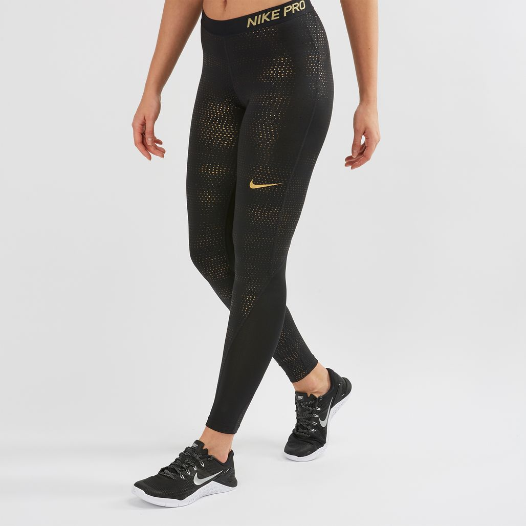 Nike Pro Metallic Dots Print Leggings