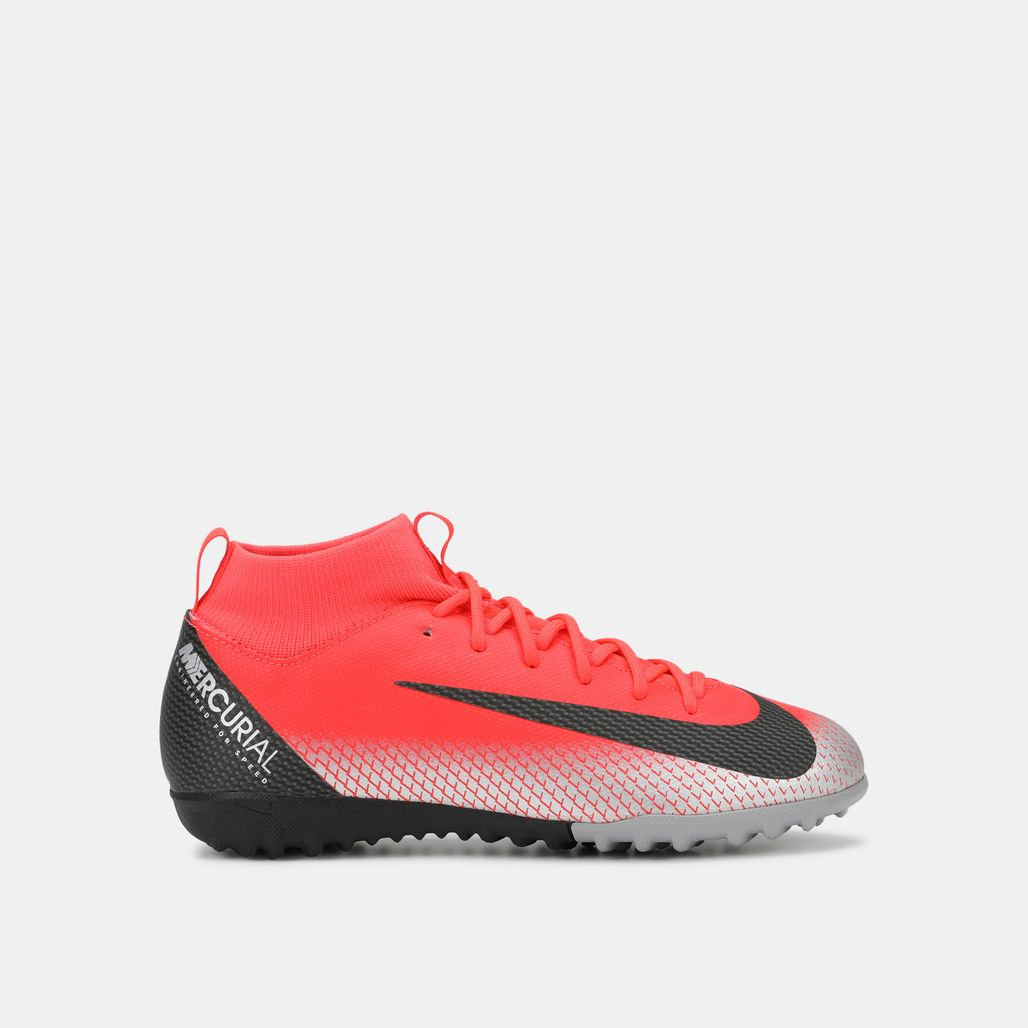 Nike Kids' MercurialX Superfly 6 Academy CR7 Turf Football Shoe