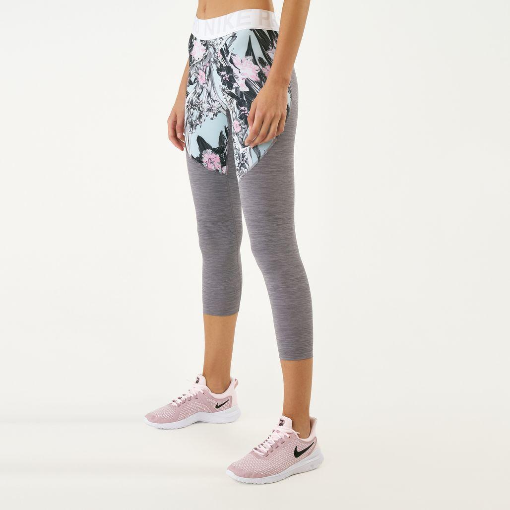 Nike Women's Pro Hyper Femme Cropped Leggings