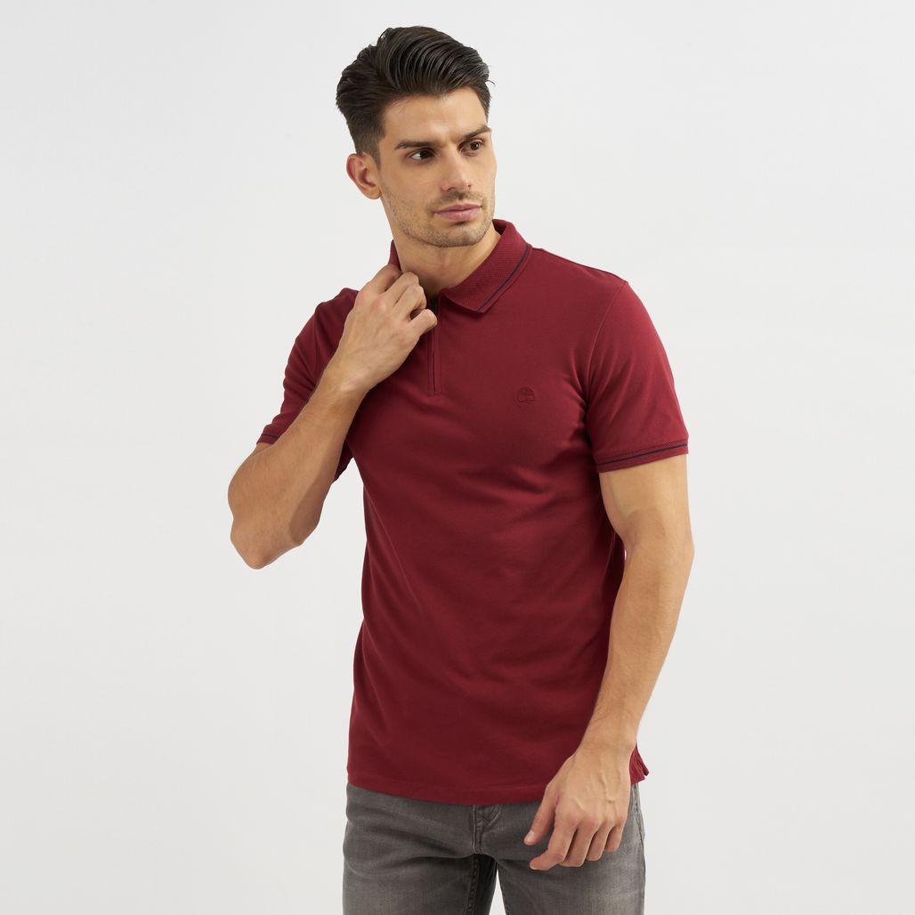 Timberland Zip Polo T-Shirt
