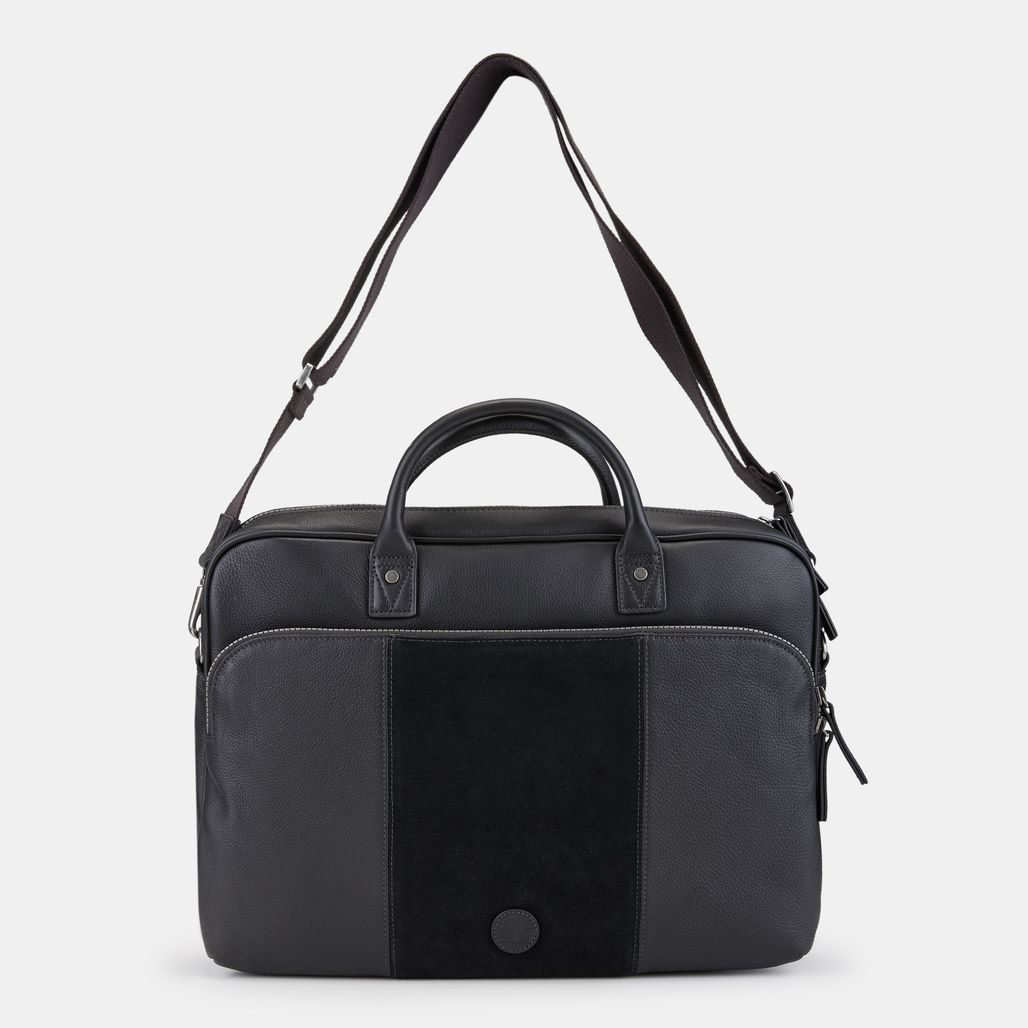 Timberland Tuckerman Slim Suede Briefcase - Black