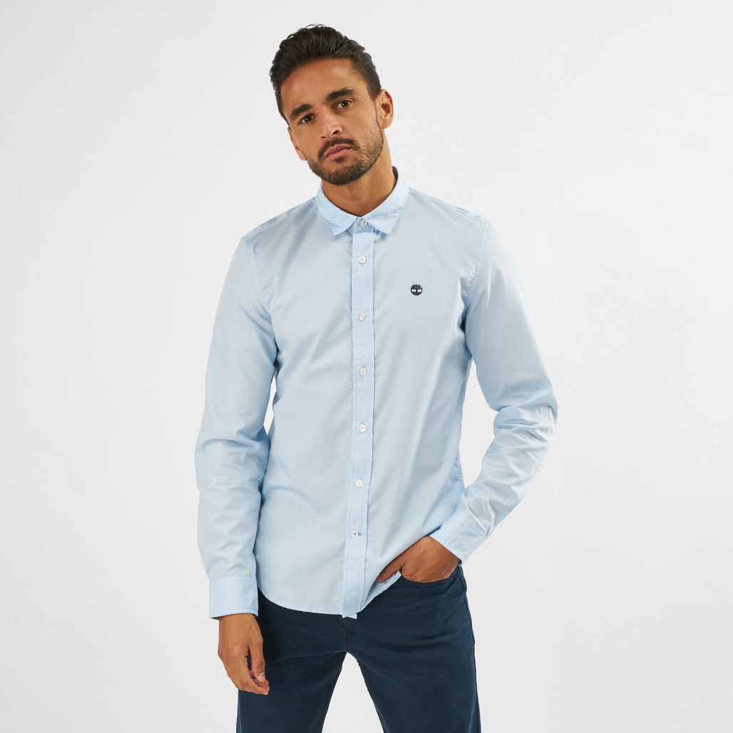 Timberland Suncook River Poplin Easy To Iron Long Sleeve Shirt