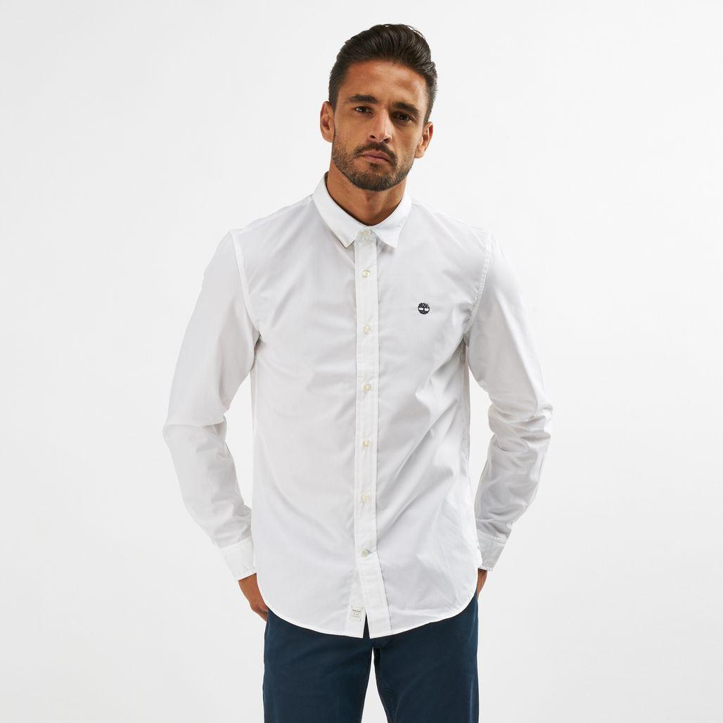 Timberland Suncook River Poplin Easy To Iron Long Sleeve Shirt