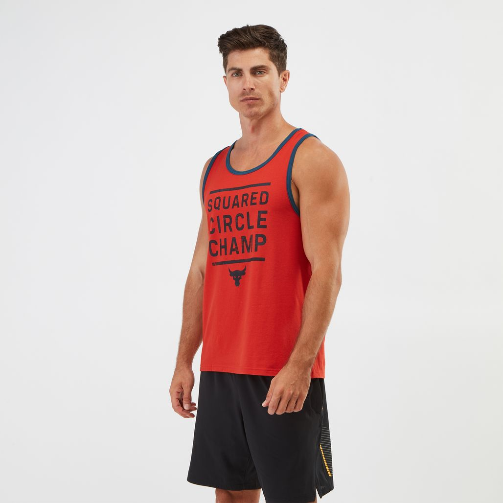 Under Armour Project Rock Squared Circle Champ Tank Top