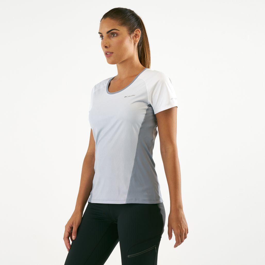 قميص قصير الأكمام سولار تشيل 2.0 من كولومبيا للنساء