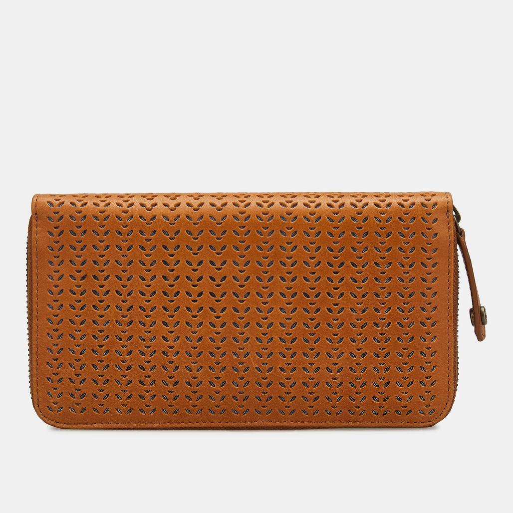 محفظة زيب اراوند من تمبرلاند للنساء - بني