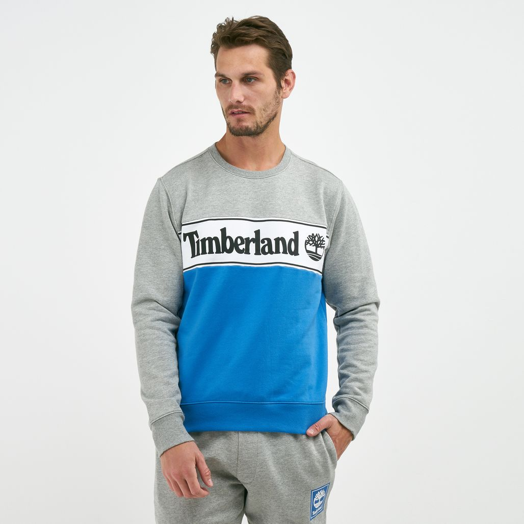 Timberland Men's Sport Lifestyle Cut And Sew Sweatshirt