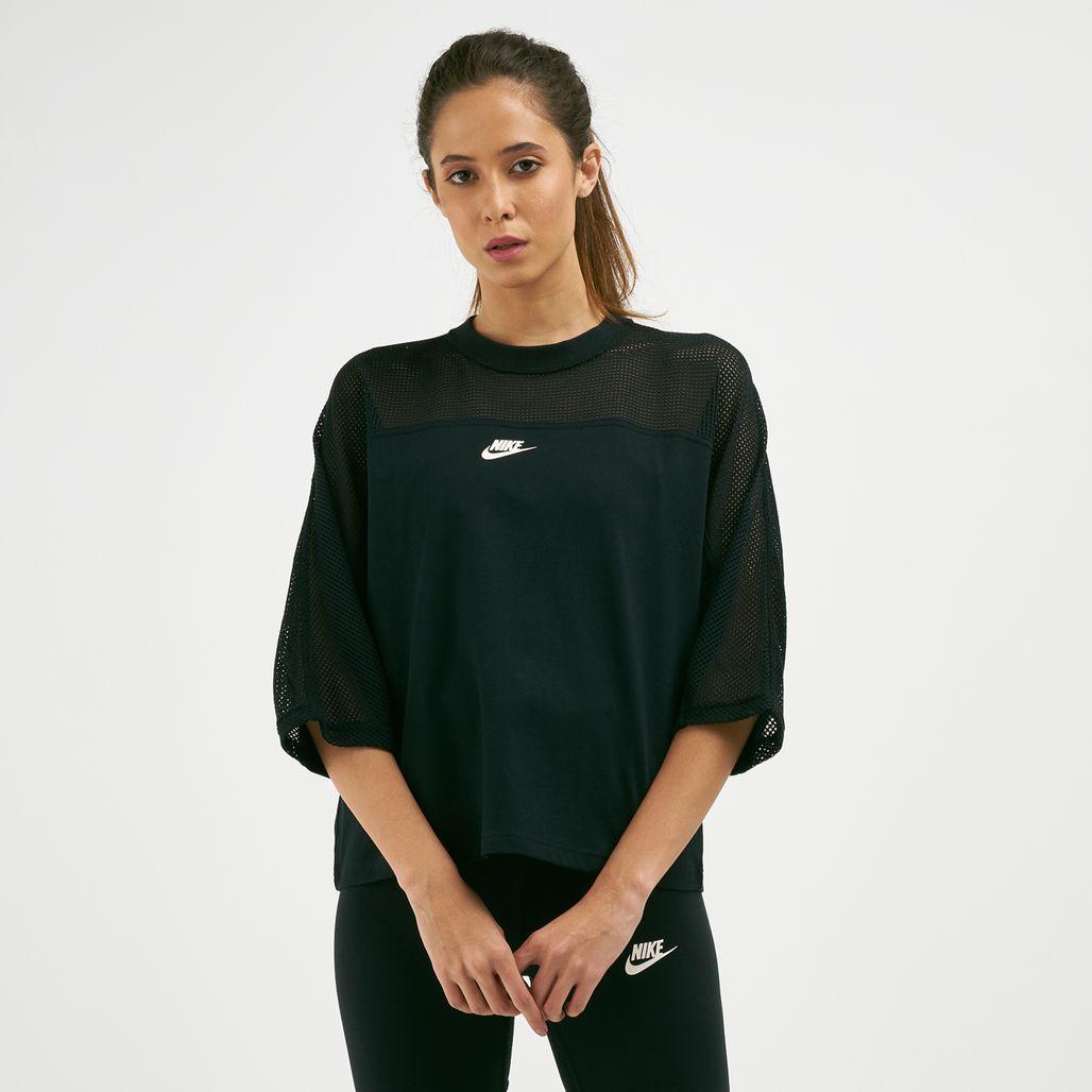 Nike Women's Sportswear Crew Mesh T-Shirt