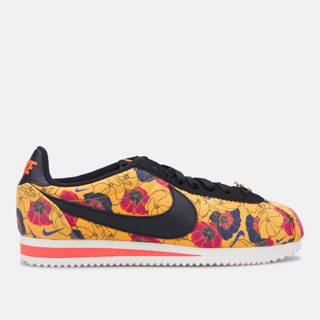 Nike Women's Floral Classic Cortez LX Shoe