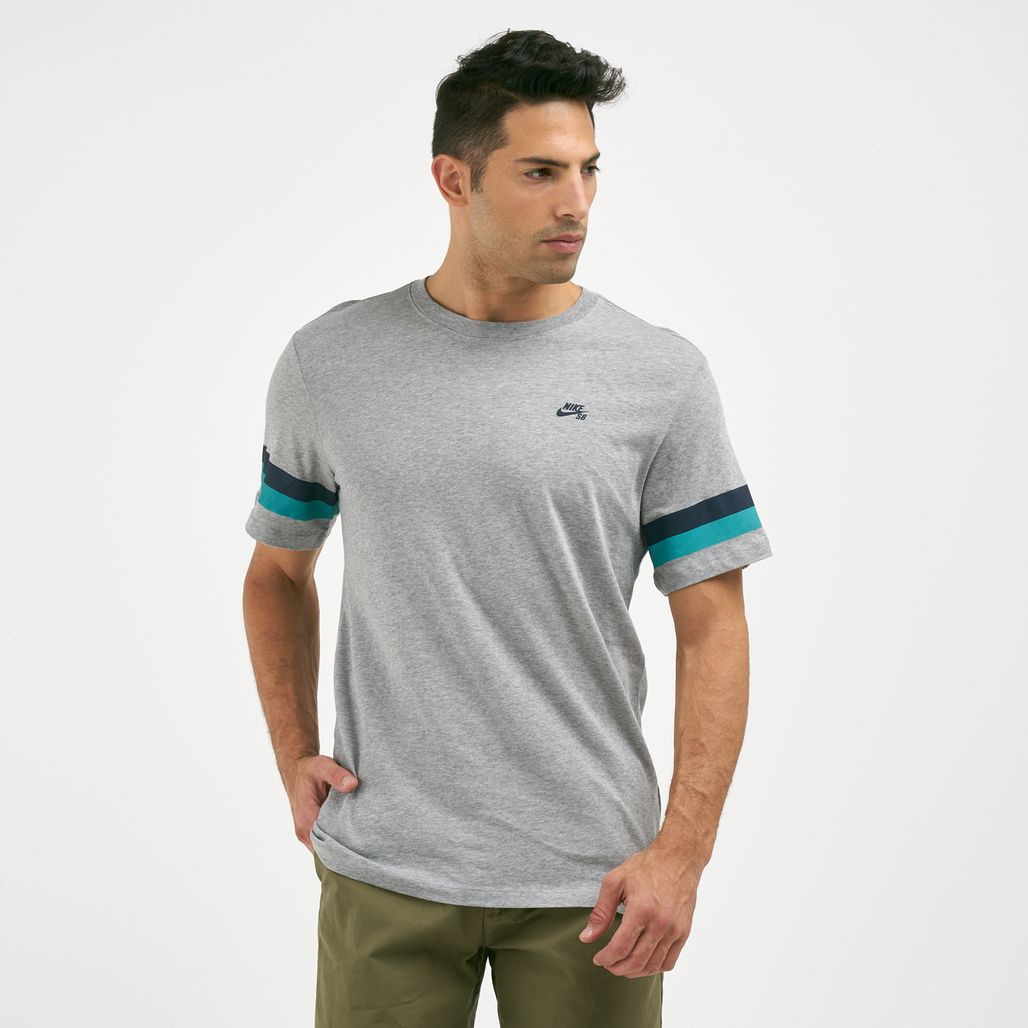 Nike Men's SB Striped Sleeve T-Shirt