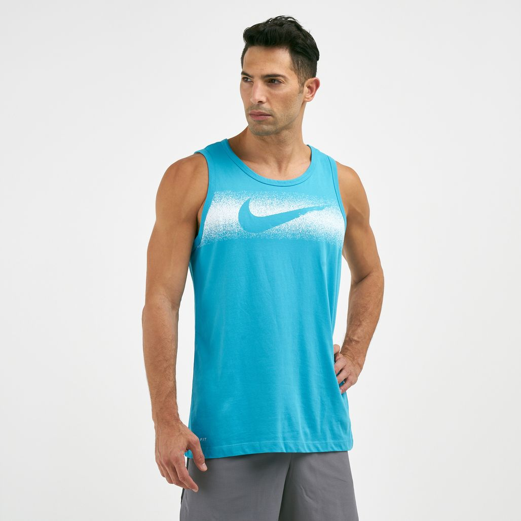 Nike Men's Dri-FIT Chalk Swoosh Tank Top
