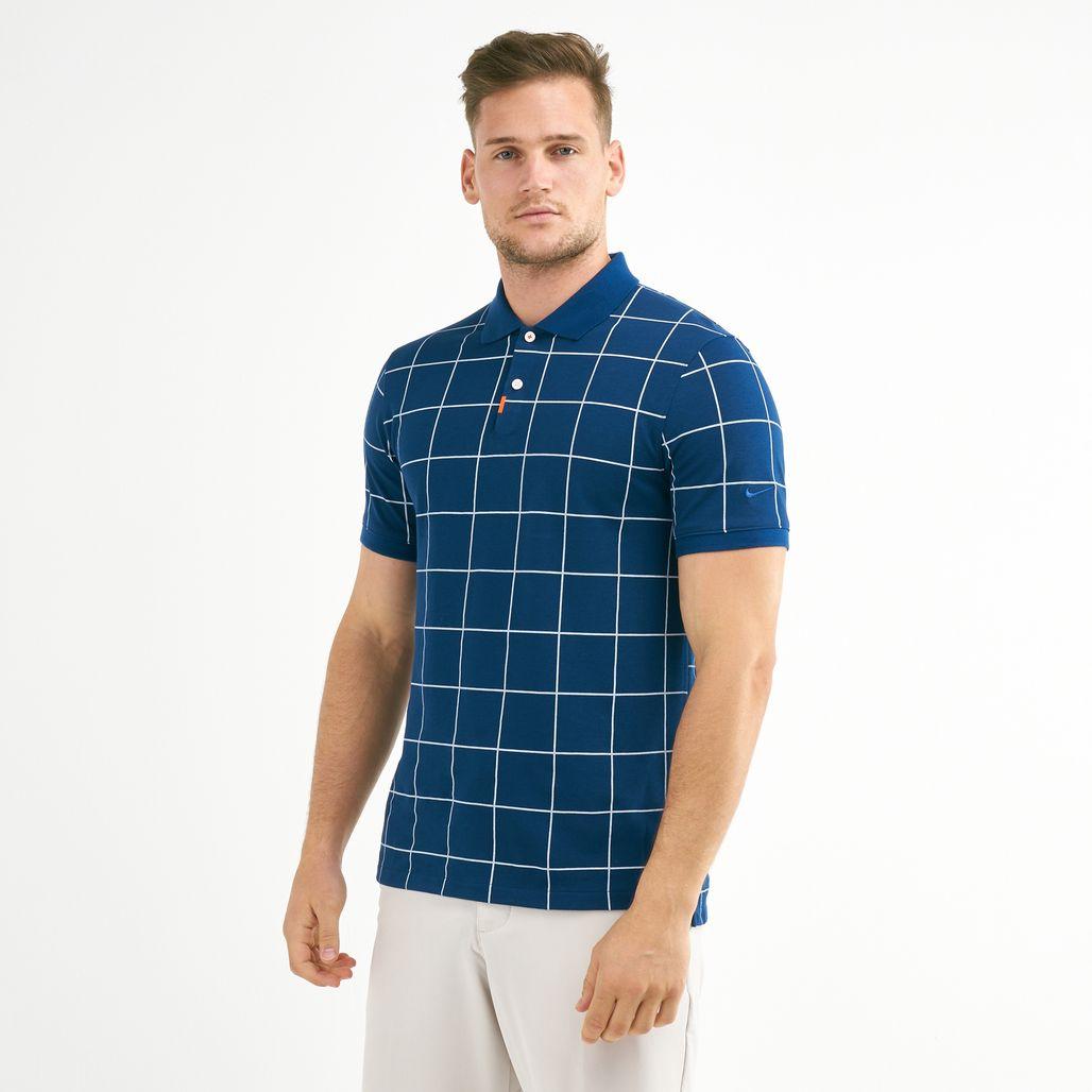 Nike Golf Men's Slim Grid Polo T-Shirt