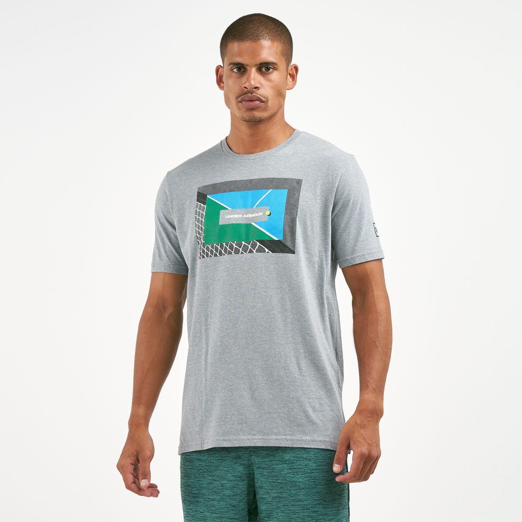 Under Armour Men's Tennis Photoreal Split Hem T-Shirt