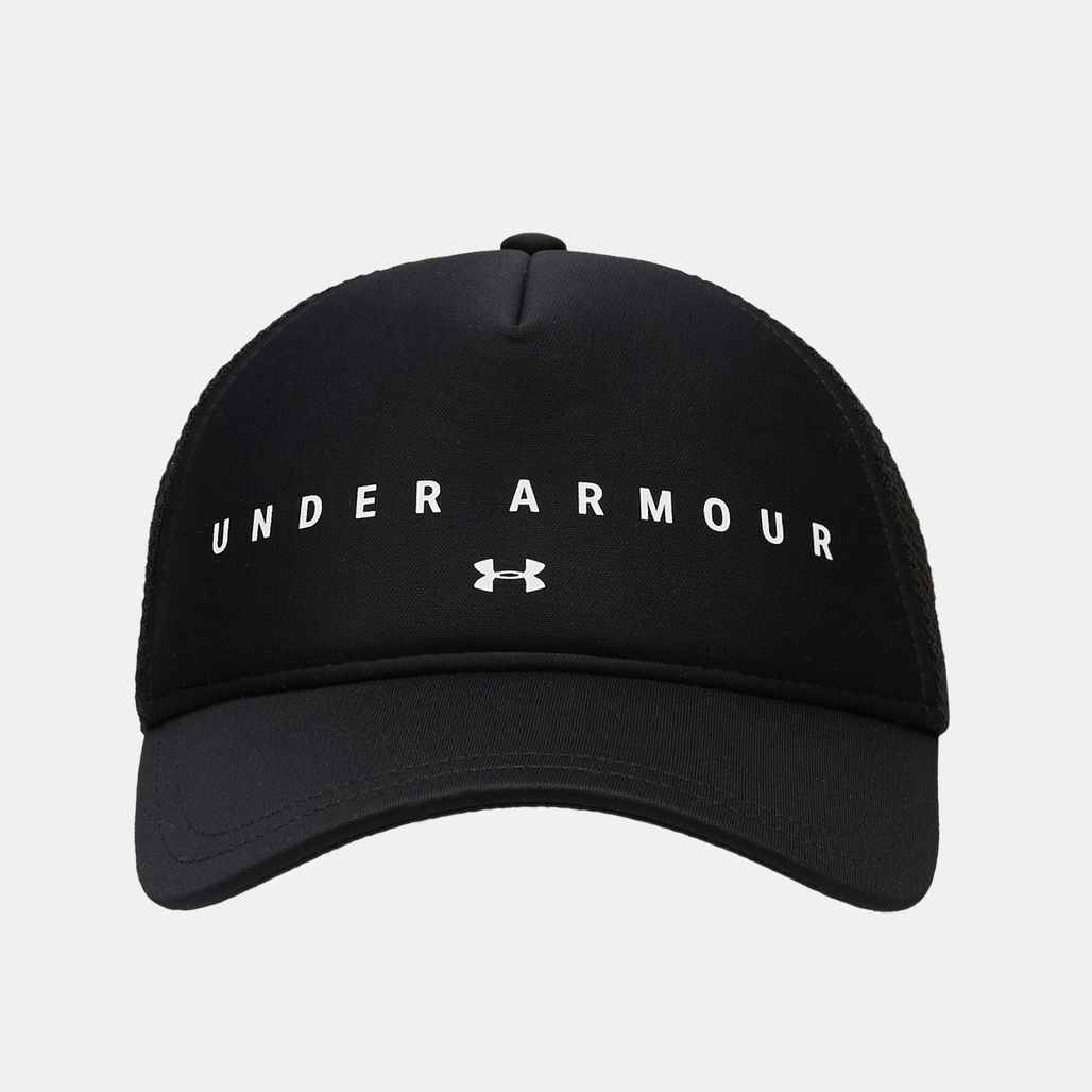 Under Armour Women's Diamond Mesh Trucker Cap - Black