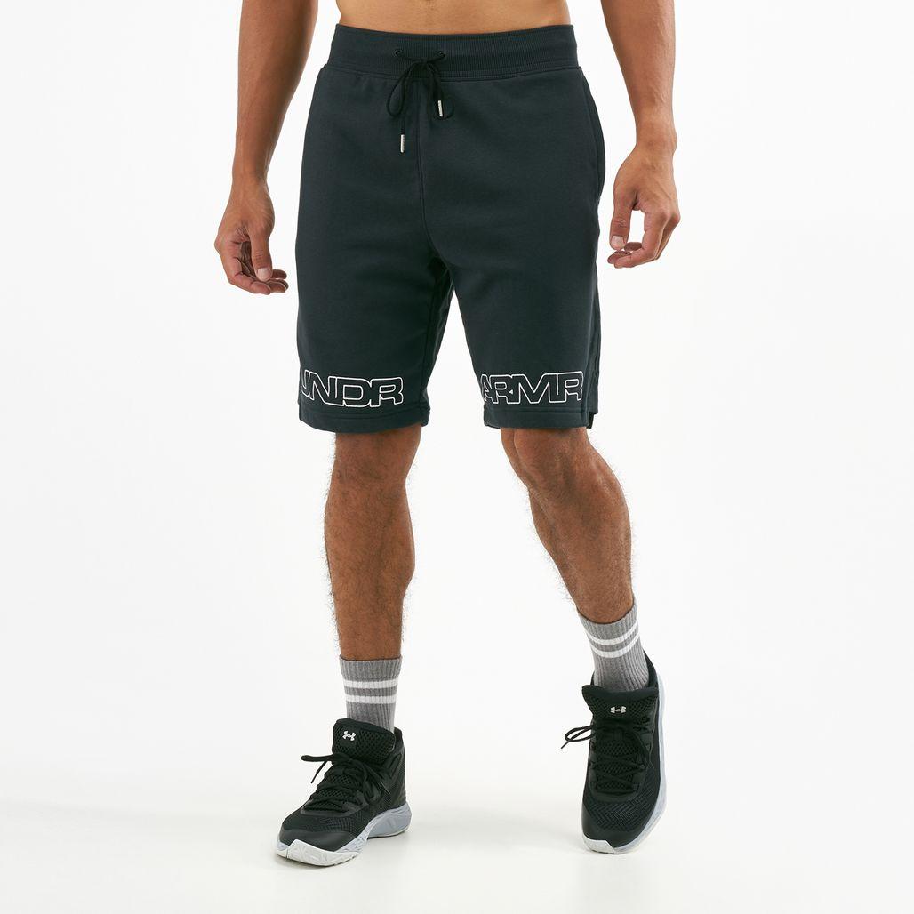 Under Armour Men's Baseline Graphic Fleece Basketball Shorts