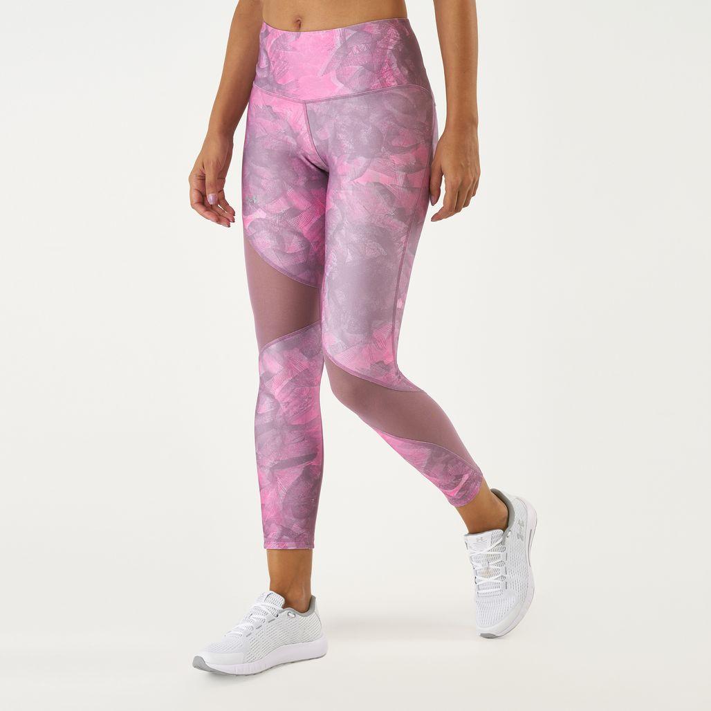 Under Armour Women's HeatGear® Armour Ankle Crop Print Leggings