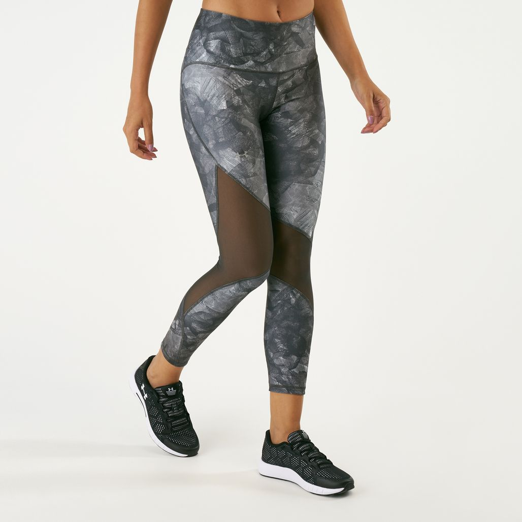 Under Armour Women's HeatGear® Armour Ankle Crop Print Leggings