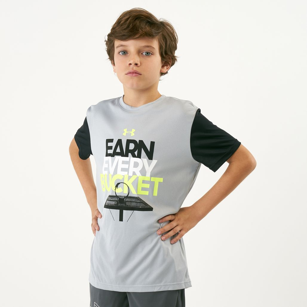 Under Armour Kids' Earn Every Bucket T-Shirt (Older Kids)