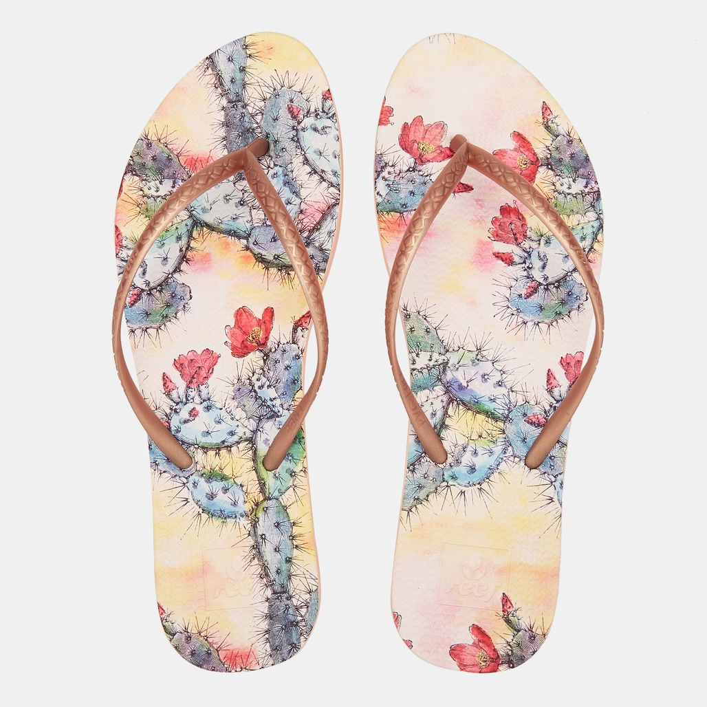 Reef Women's Escape Lux Print Flip Flops
