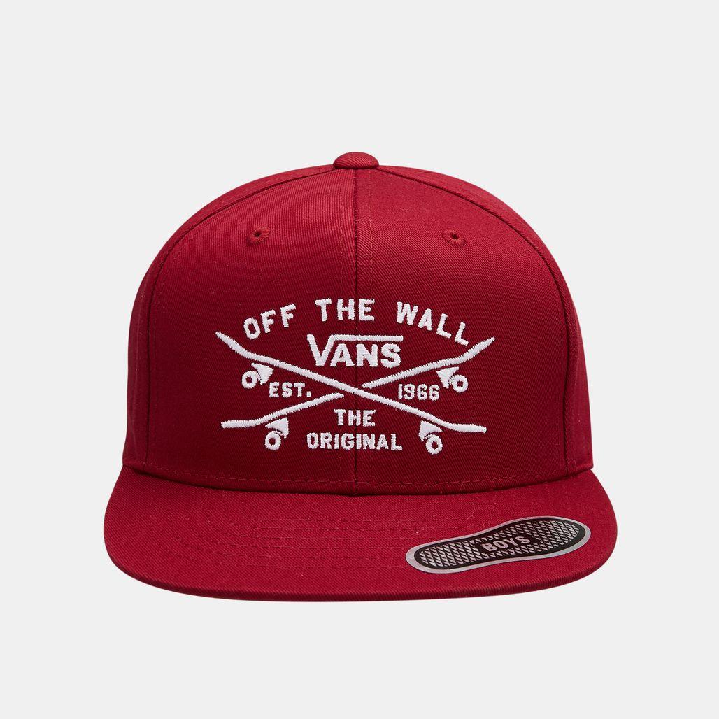 Vans Kids' Skate Lock Up Snapback Cap - Red