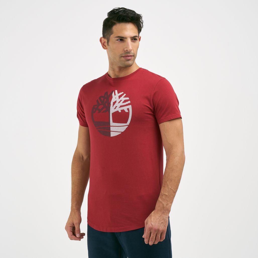 Timberland Men's Divided Tree Logo T-Shirt