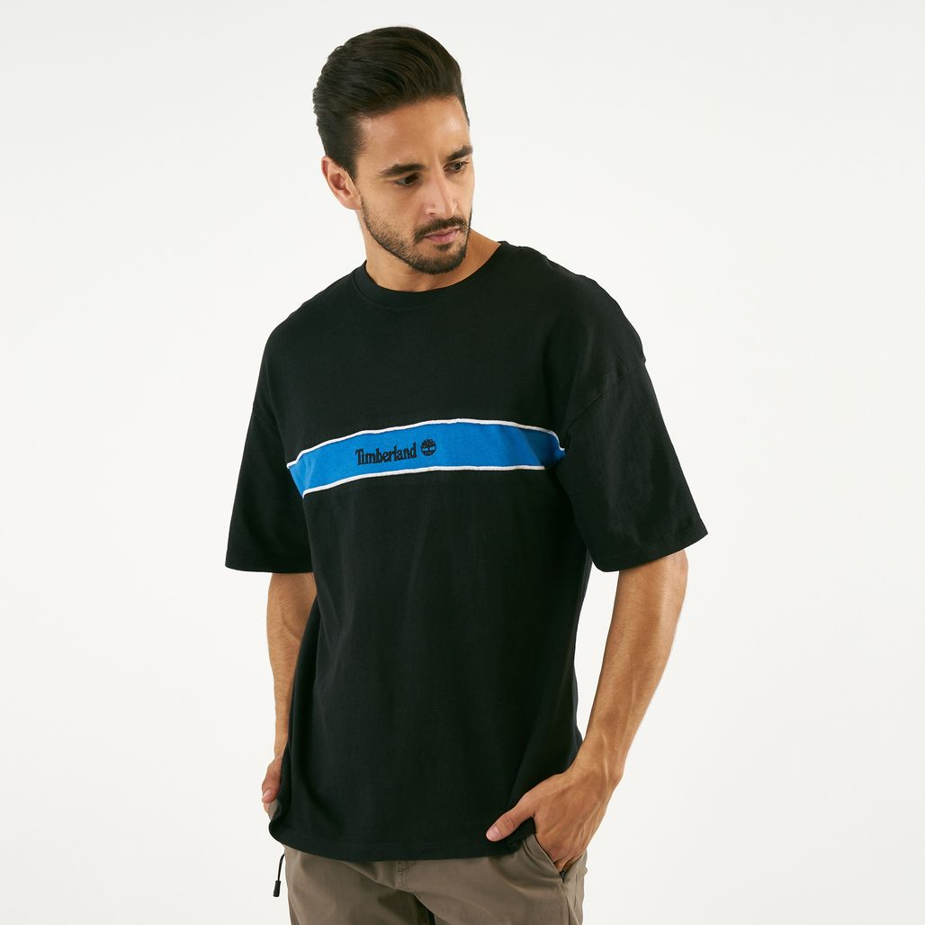 Timberland Men's Stripe Box Fit Linear T-Shirt