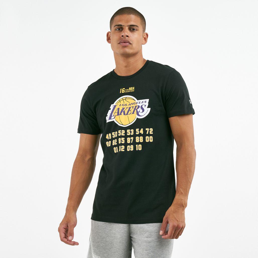 New Era Men's NBA LA Lakers Champion T-Shirt