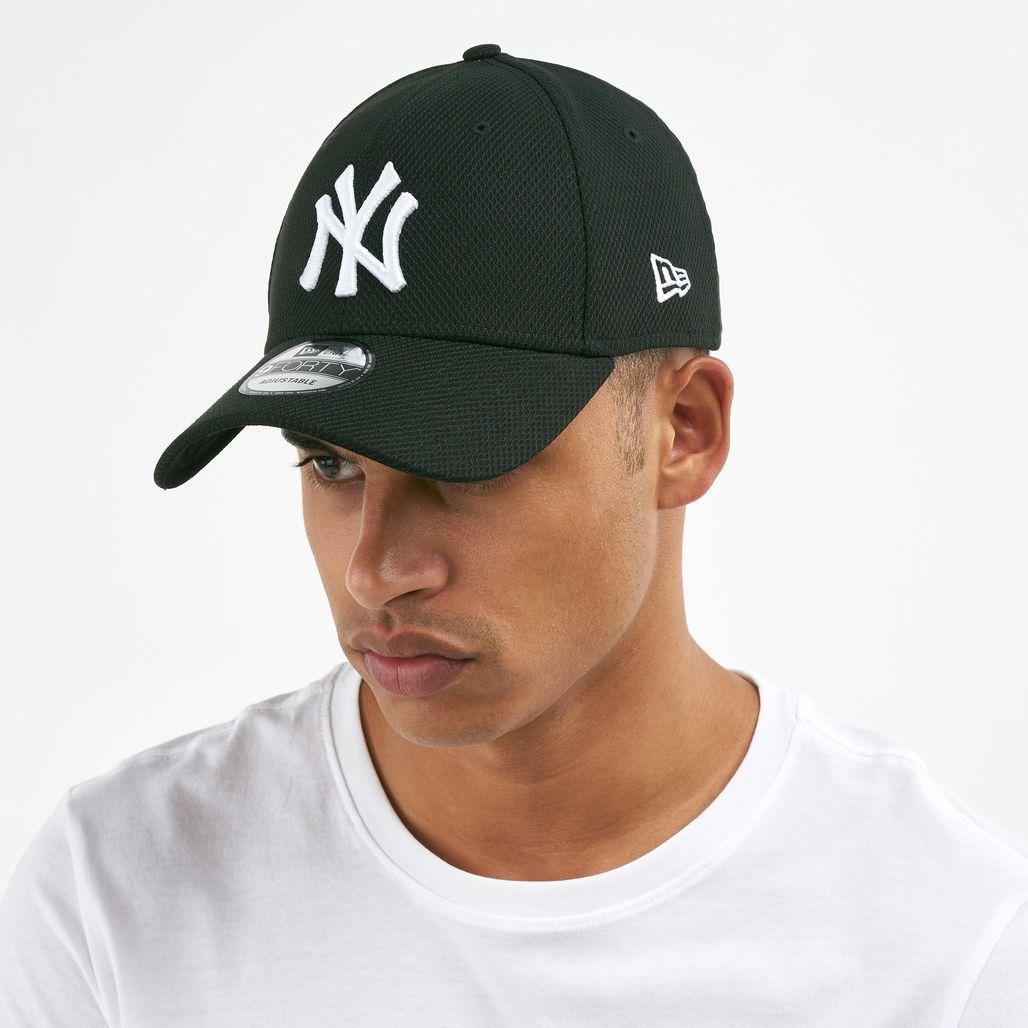 New Era Men's MLB New York Yankees Diamond Era Trucker 9FORTY Cap - Black