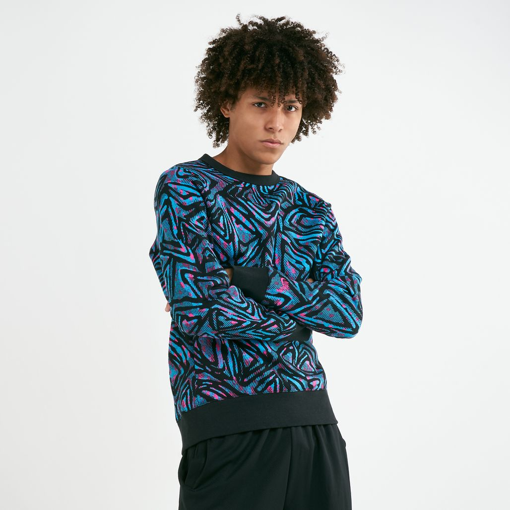Nike Men's SB Crew All-over Print Sweatshirt
