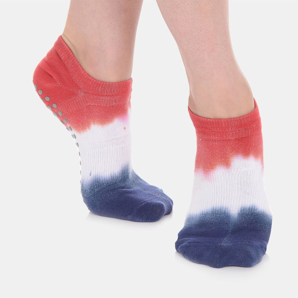 Great Soles Women's Tie Dyed Grip Socks - Multi