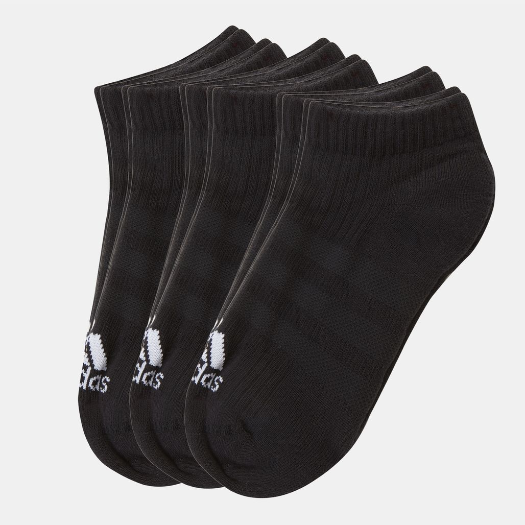adidas 3-Stripes No Show Socks 6 Pair