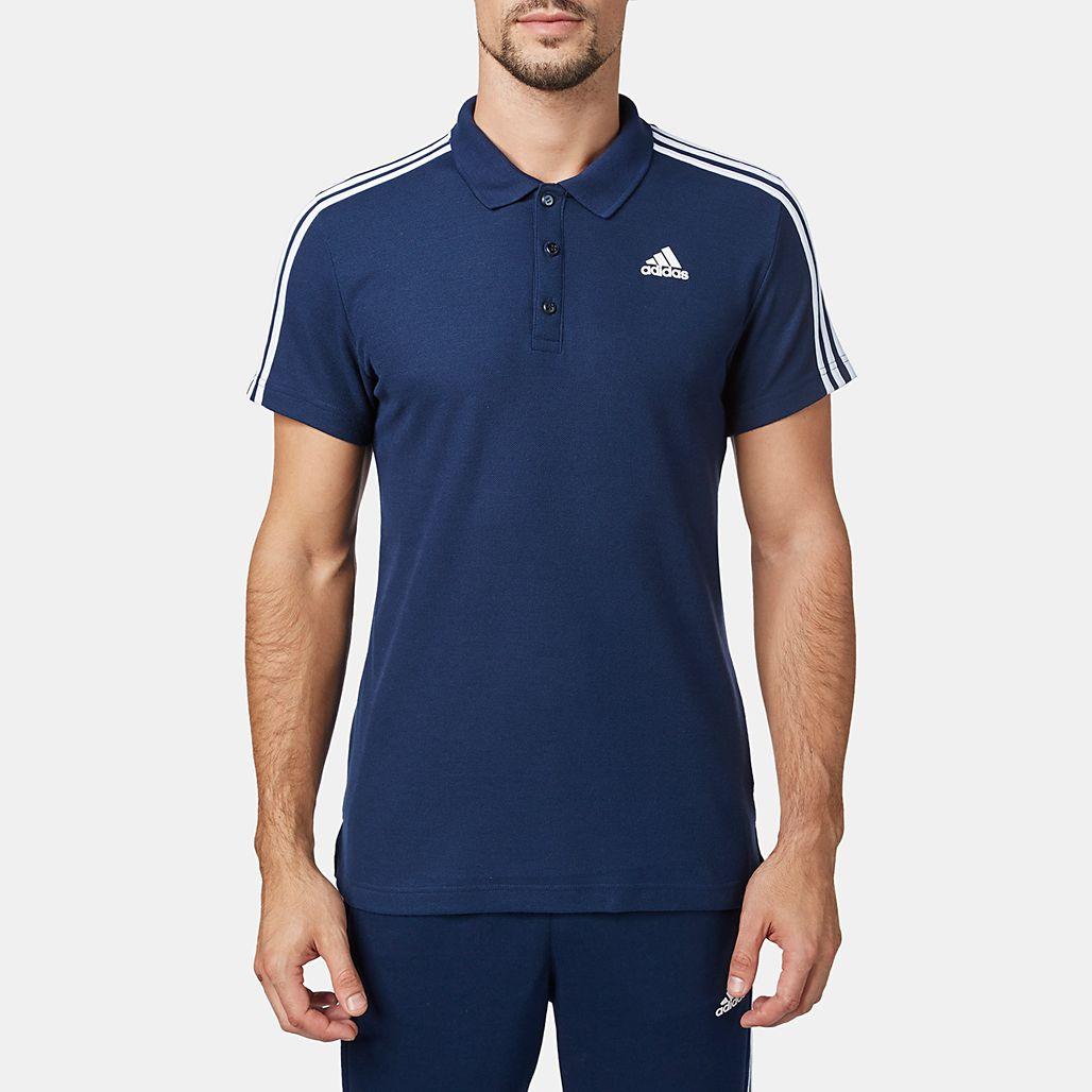 Essential Shirt Shop BySss Mens 3 For Stripe Blue Polo Adidas 7vfgbmI6Yy