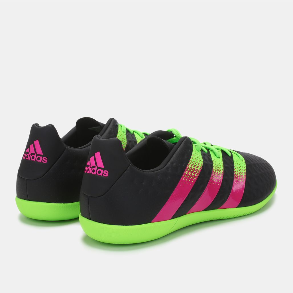 ec7ba2457ff Shop Black adidas Ace 16.3 Indoor Court Trainers for Mens by adidas ...