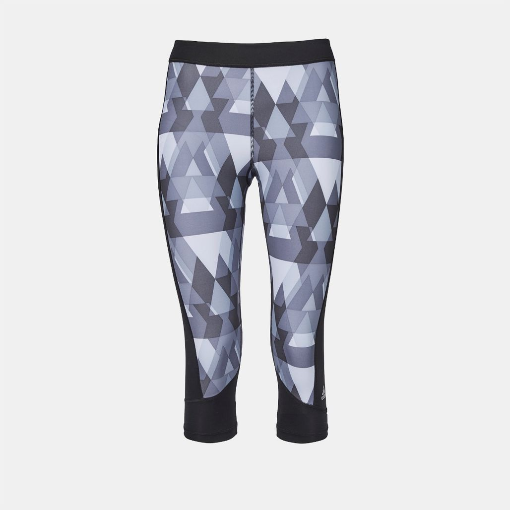 adidas TechFit™  CAP GLO TRI Capri Leggings - Black