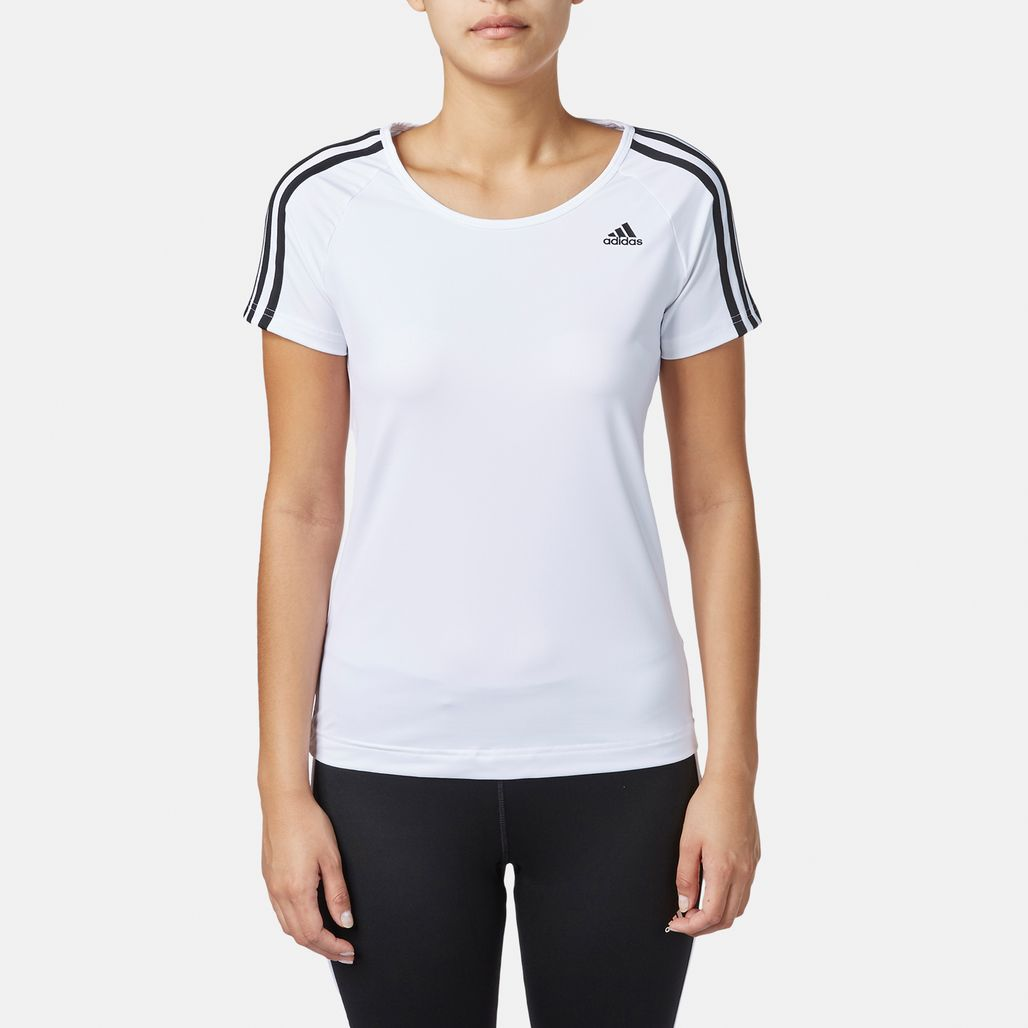 adidas Basic 3 Stripe T-Shirt