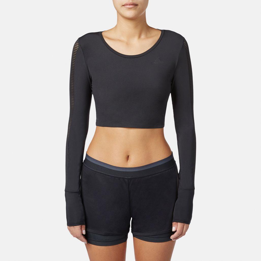 adidas Long Sleeve Crop T-Shirt