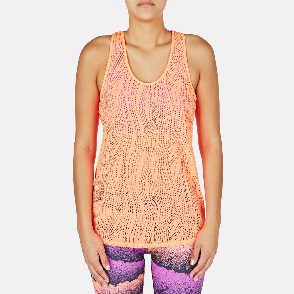 PUMA Mesh It Up Layer Tank Top - Orange