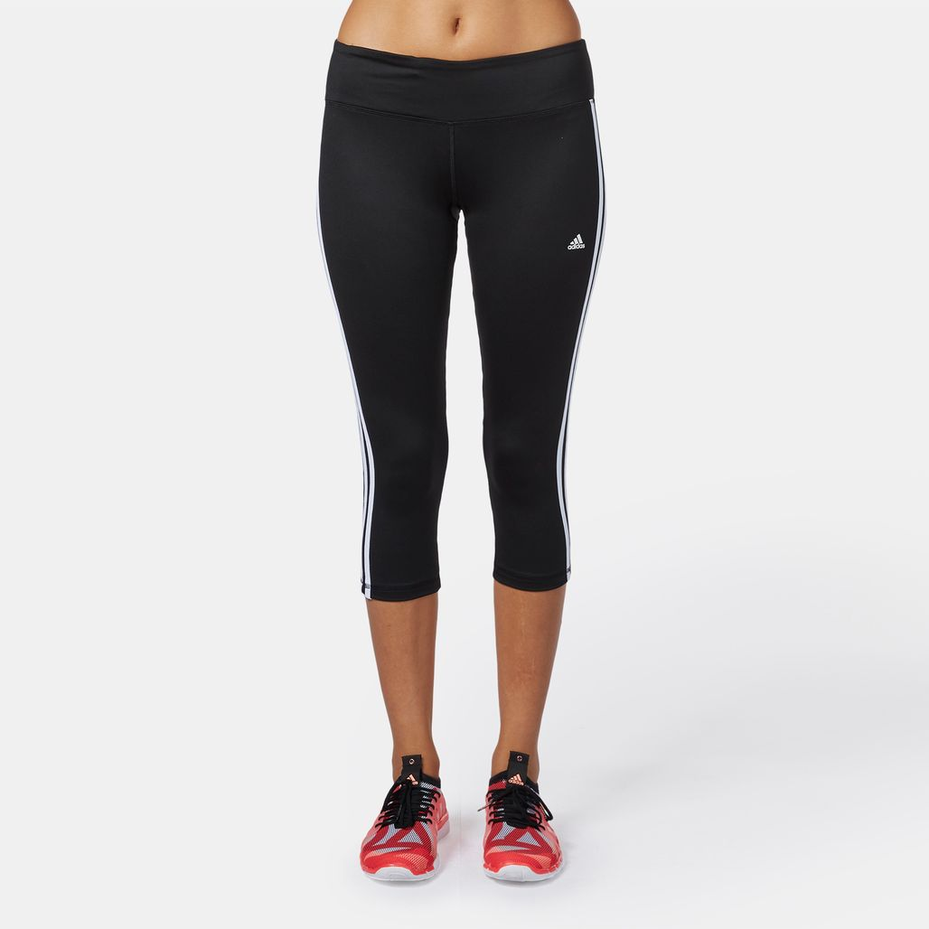 adidas Basics 3-Stripe 3/4 Capri Leggings
