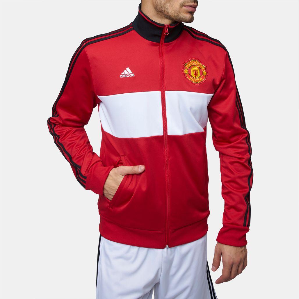 26060ae8eb2bf Shop Multi adidas Manchester United 3-Stripes Track Jacket for Mens ...