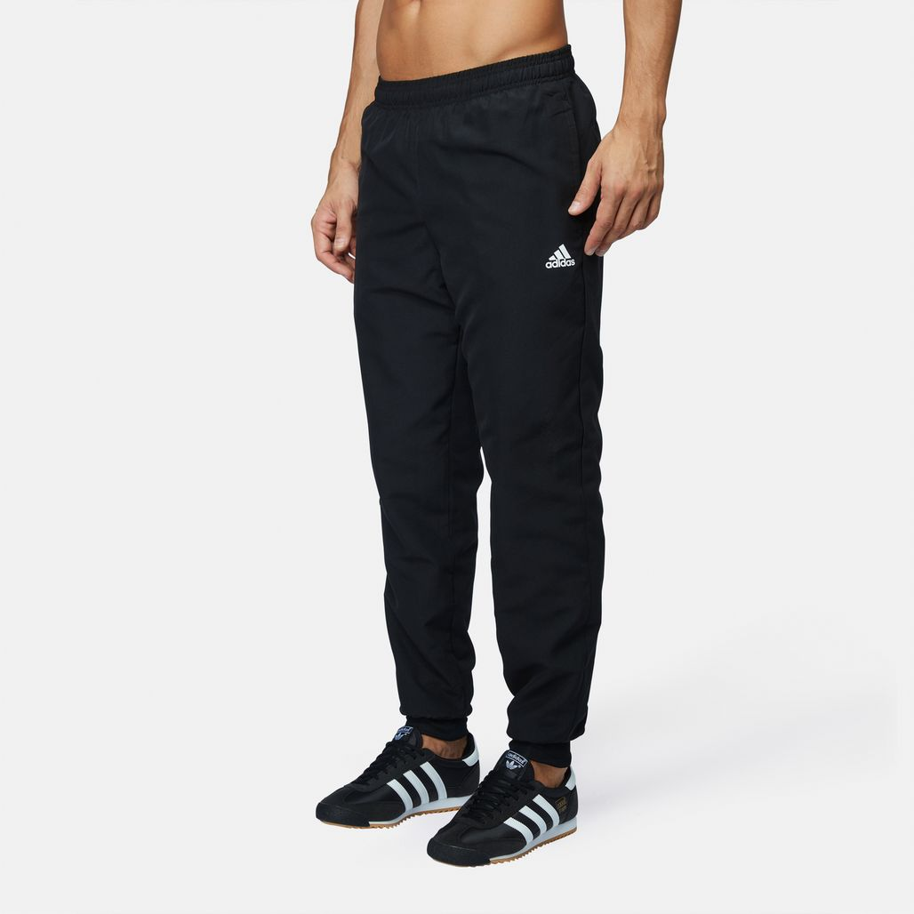 cedd64790c6e Shop Black adidas Essentials Linear Stanford Pants for Mens by ...