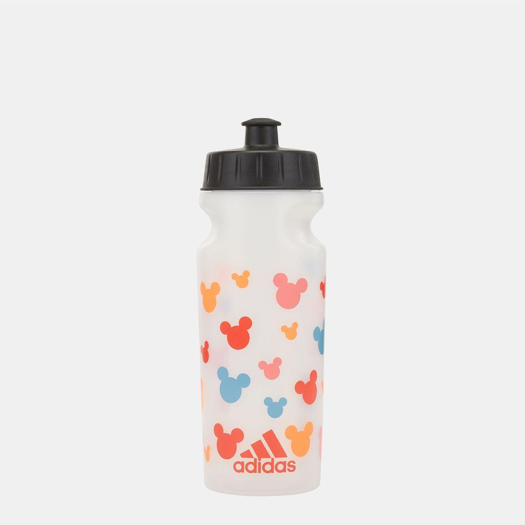 زجاجة مياه ديزني من اديداس للاطفال - أبيض